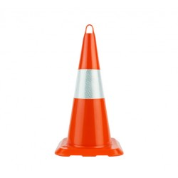 50cm Unbreakable Traffic Cone (Single Reflective)