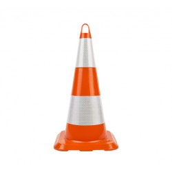 75cm Unbreakable Traffic Cone (Double Reflective)