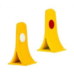 Flexible Strip Separator Warning Sign